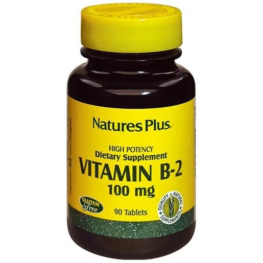 Nature\'s Plus Vitamin B-2 100mg Βιταμίνη Β-2 90tabs
