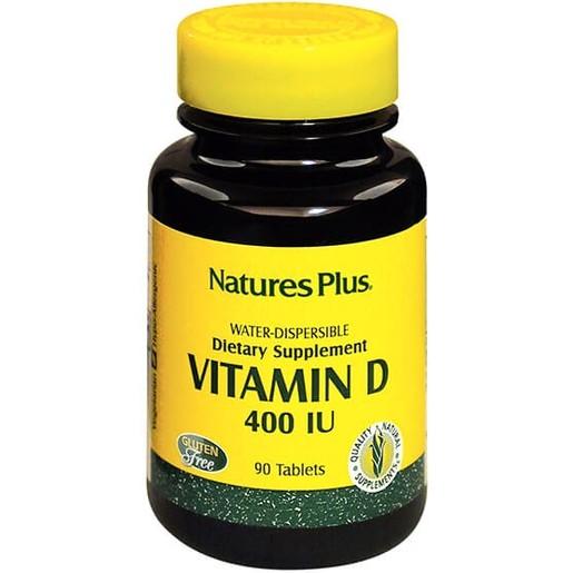 Nature\'s Plus Vitamin D 400lu Water-Dispersible Καλή Λειτουργία του Νευρικού Συστήματος Υγιή Οστά & Δόντια 90tabs