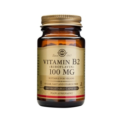 Solgar Vitamin B2 (Ριβοφλαβίνη) 100mg 100 veg.caps