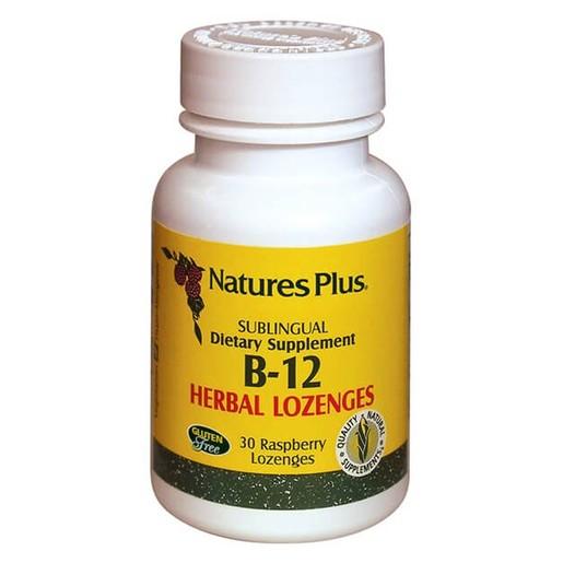 Nature\'s Plus Vitamin B-12 1000mcg Συμπλήρωμα Διατροφής Βιταμίνη Β-12, 30 Παστίλιες