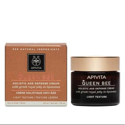 Apivita Queen Bee Holistic Age Defence Day Cream With Greek Royal Jelly in Liposomes Legere 50ml
