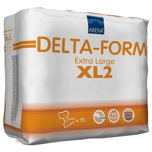 Abena Delta-Form Adults Monthly Pack Σλιπ- Πάνα για Βαριάς Μορφής Ακράτεια Ενηλίκων XL Μέγεθος 110-170cm Delta XL2 15τεμάχια