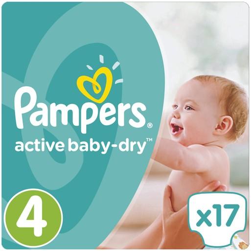 Pampers Active Baby Dry No4 (8-14kg) 17πάνες