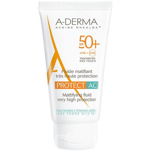 Protect AC Fluide Matifiant Visage Spf50+ 40ml - A-derma
