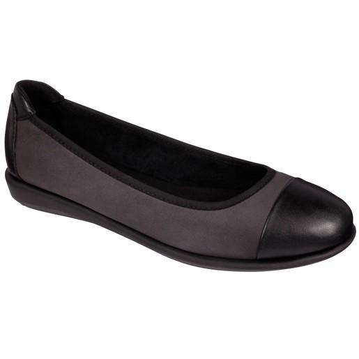 Dr Scholl Shoes Akita Grey Γκρι - Μαύρο Γυναικεία Ανατομικά Παπούτσια Χαρίζουν Σωστή Στάση & Φυσικό Χωρίς Πόνο Βάδισμα 1 Ζευγάρι