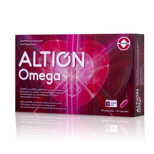 Altion Omega Lipid Συμπλήρωμα Διατροφής με Ωμέγα 3, 30 κάψουλες