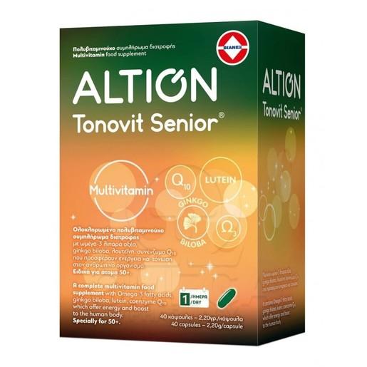 Altion Tonovit Senior Ενισχυμένη Πολυβιταμίνη για Σωματική & Πνευματική Τόνωση για Ηλικίες άνω των 50 Ετών 40caps