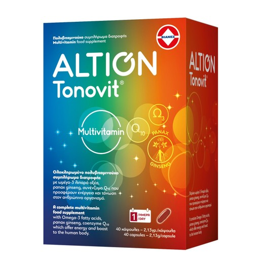 Altion Tonovit Multivitamin Ολοκληρωμένο Πολυβιταμινούχο Συμπλήρωμα Διατροφής 40caps