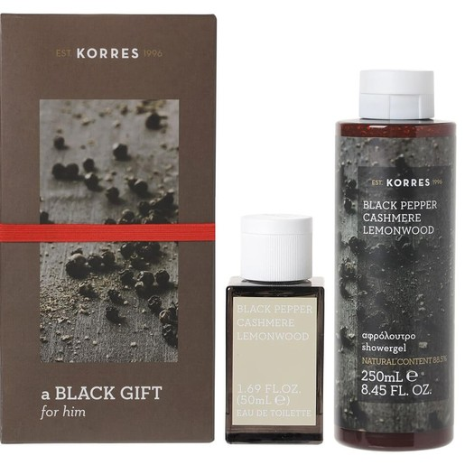Korres Πακέτο Προσφοράς Black Pepper, Cashmere,Lemonwood Eau De Toilette 50ml & Δώρο Showergel 250ml