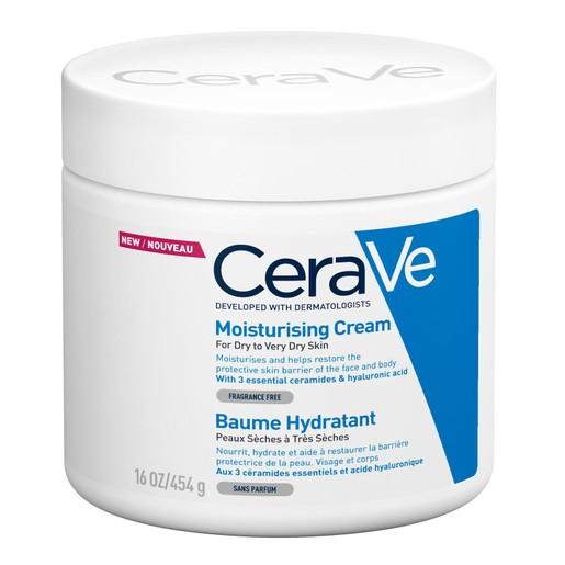 CeraVe Moisturising Cream Ενυδατική Κρέμα - Βάλσαμο Προσώπου & Σώματος για Ξηρή - Πολύ Ξηρή Επιδερμίδα