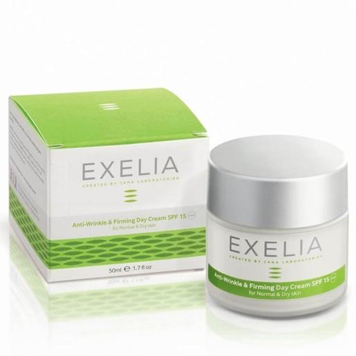 Exelia Anti-Wrinkle & Firming Day Cream Spf15 UVA  Σβήνει Τα Σημάδια Του Χρόνου Για Κανονική Και Ξηρή Επιδερμίδα 50ml