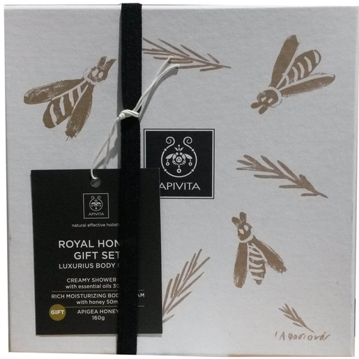 Apivita Πακέτο Προσφοράς Royal Honey Body Cream 200ml,Royal Honey Creamy Shower Gel 300ml,Μέλι 160gr