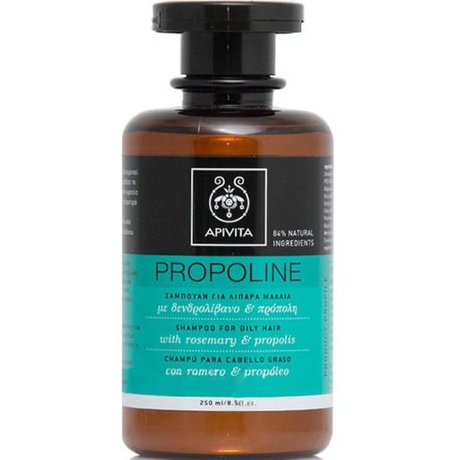 Apivita Propoline Σαμπουάν Για Λιπαρά Μαλλιά Με Πρόπολη & Δεντρολίβανο 250ml