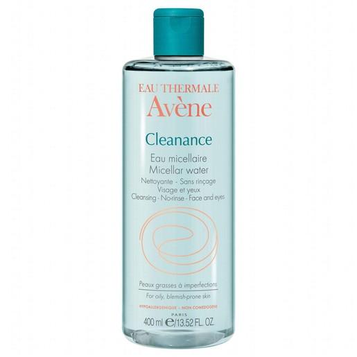 Avene Cleanance Eau Micellaire Νερό Micellaire για τον Καθαρισμό Προσώπου & Ματιών Χωρίς Ξέπλυμα 400ml