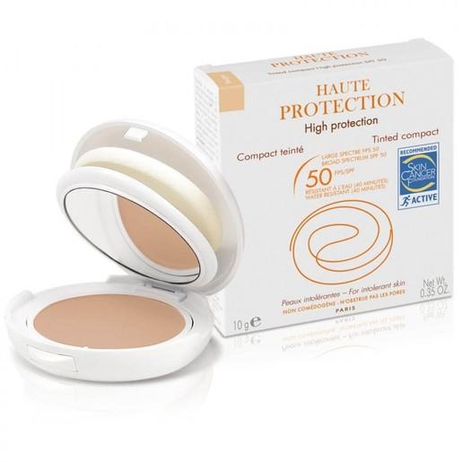 Avene High Protection Compact Spf50 Sable Υψηλή Αντηλιακή Προστασία & Μακιγιάζ του μη Ανεκτικού Δέρματος του Προσώπου 10gr
