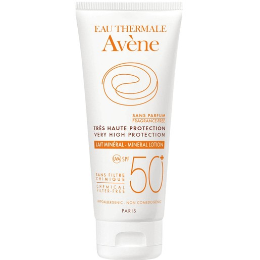 Avene Very High Protection Lait Mineral Spf50+ Πολύ Υψηλή Αντηλιακή Προστασία Σώματος σε Γαλάκτωμα για μη Ανεκτικά Δέρματα 100ml