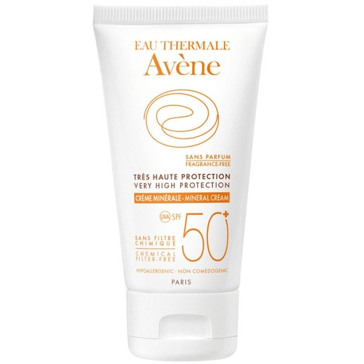 Avene Very High Protection Cream Mineral Spf50+ Πολύ Υψηλή Αντηλιακή Προστασία Προσώπου σε Κρέμα για μη Ανεκτικά Δέρματα 50ml