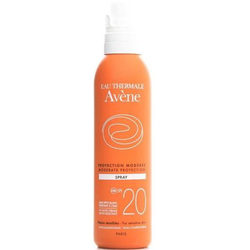 Avene Protection Moderee Spray Spf20 Μεσαία Αντηλιακή Προστασία του Ευαίσθητου Δέρματος για Πρόσωπο & Σώμα 200ml