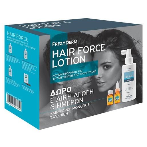 Frezyderm Promo Hair Force Lotion Extra100ml & Δώρο6 Hair Force Monodose