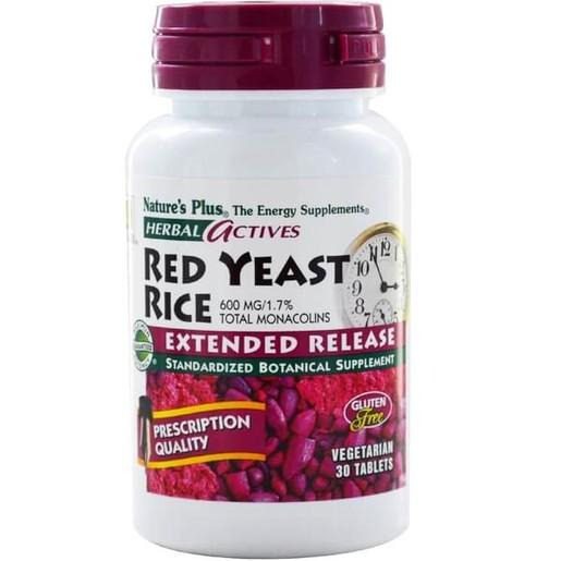 Nature\'s Plus Extended Red Yeast Rice 600 Mg Συμπλήρωμα Διατροφής για την Προστασία του Καρδιαγγειακού Συστήματος 30 Mini tabs