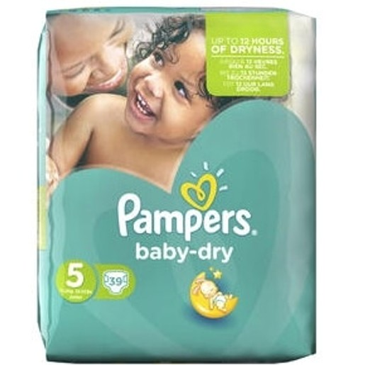 Pampers Baby Dry No5 Junior (11-25kg), 39 πάνες