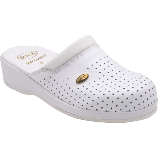 Scholl Shoes Back Guard Σαμπό Λευκό Αναπαυτικά Παπούτσια που Χαρίζουν Σωστή Στάση & Φυσικό Χωρίς Πόνο Βάδισμα 1 Ζευγάρι