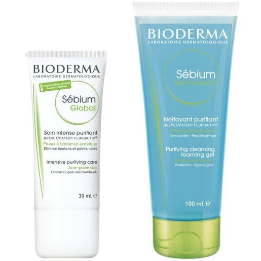 Bioderma Sebium Global Cream 30ml & Sebium Gel Moussant 100ml