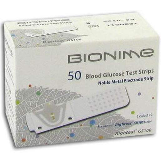 Bionime Ταινίες Μέτρησης Γλυκόζης Αίματος GS 700 50Strips