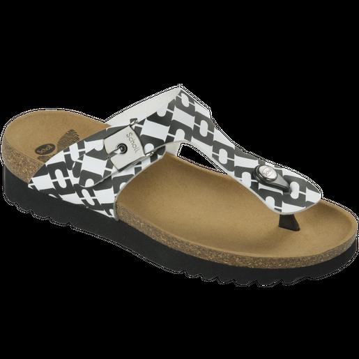 Dr Scholl Shoes Boa Vista Up Άσπρο-Μαύρο Γυναικεία Ανατομικά Παπούτσια Χαρίζουν Σωστή Στάση & Φυσικό Χωρίς Πόνο Βάδισμα 1Ζευγάρι