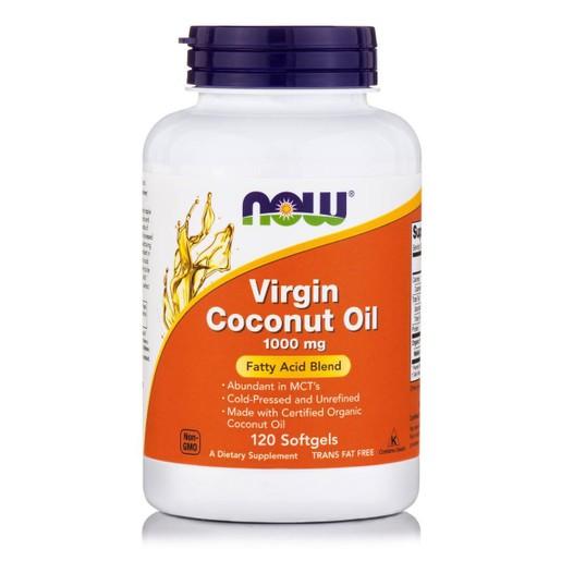 Now Foods Virgin Coconut Oil 1000mg Συμπλήρωμα Διατροφής με Βιολογικό Έλαιο Καρύδας 120 Softgels
