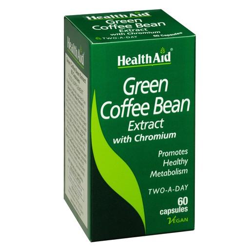 HealthAid Green Coffee Bean Extract Εκχύλισμα Πράσινου Καφέ με Λιποδιαλυτική Δράση60 Κάψουλες