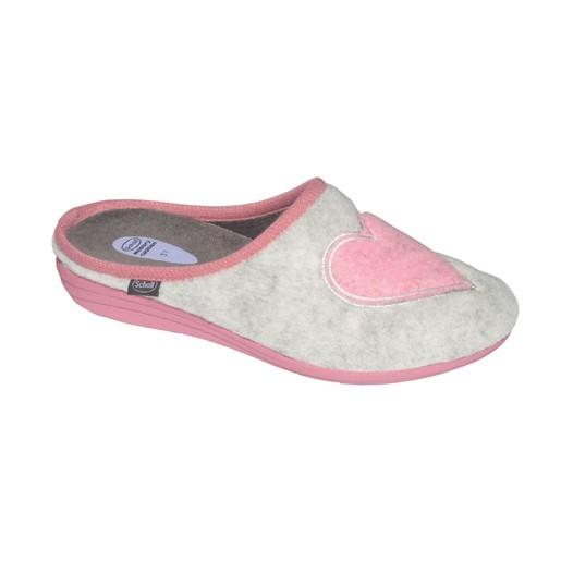 Scholl Shoes Creamy Heart Gray Pink Γυναικείες Παντόφλες Γκρί Ροζ 1 Ζευγάρι