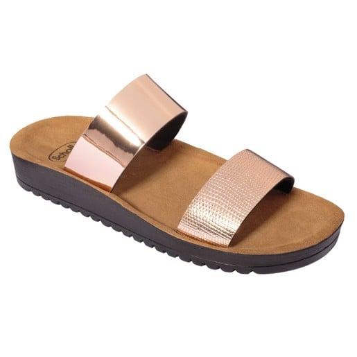 Scholl Shoes Cynthia Rose Gold Γυναικεία Ανατομικά Παπούτσια Χαρίζουν Σωστή Στάση & Φυσικό Χωρίς Πόνο Βάδισμα 1 Ζευγάρι