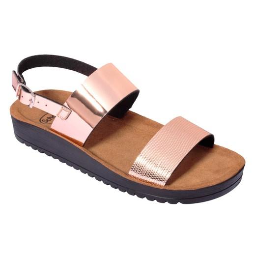 Dr Scholl Shoes Cynthia Sandal Rose Gold Γυναικεία Ανατομικά Παπούτσια Χαρίζουν Σωστή Στάση & Φυσικό Χωρίς Πόνο Βάδισμα 1Ζευγάρι
