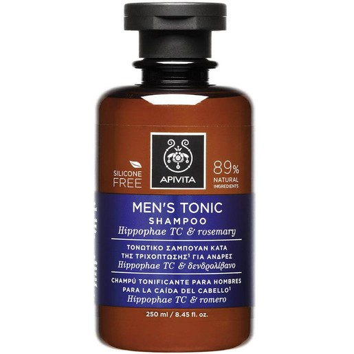 Men\'s Tonic Shampoo With Hippophae TC & Rosemary 250ml - Apivita