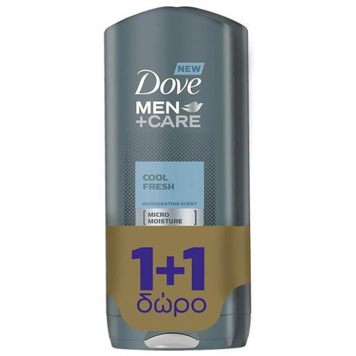 Dove Πακέτο Προσφοράς Men Care Cool Fresh Αναζοωγονητικό Αφροντούς  400ml 1+1 Δώρο 2 x 400ml