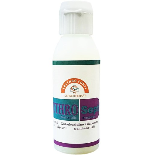 Erythro Forte ErythroSept Antiseptic Protection 70% Αλκοόλ σε Λεπτόρρευστη Κρέμα Προστασίας Ενάντια των Μικροβίων 60ml