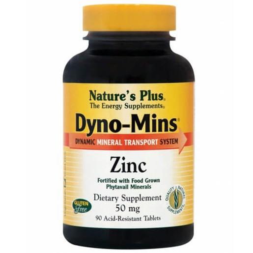 Nature\'s Plus Dyno-Mins Zinc 50mg Συμπλήρωμα Διατροφής Ψευδαργύρου 90 Tablets