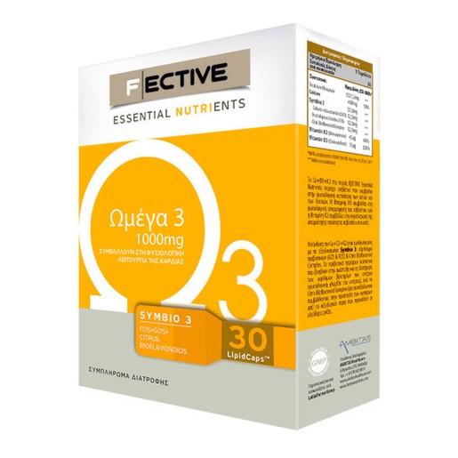 Fective Omega 3 Ωμέγα 3  Για Την Καρδιά Και Το Κυκλοφορικό 1000mg 30caps