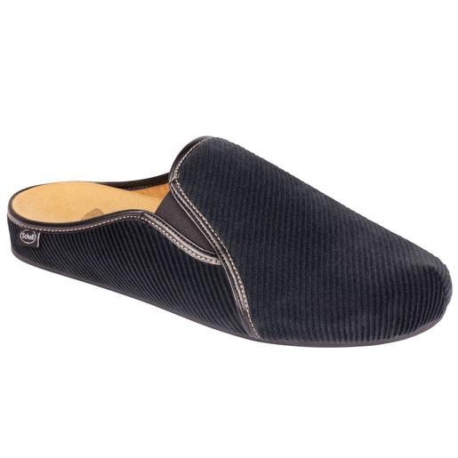 Dr Scholl Shoes Felce Μαύρο Ανδρικές Ανατομικές Παντόφλες Χαρίζουν Σωστή Στάση & Φυσικό Χωρίς Πόνο Βάδισμα 1 Ζευγάρι