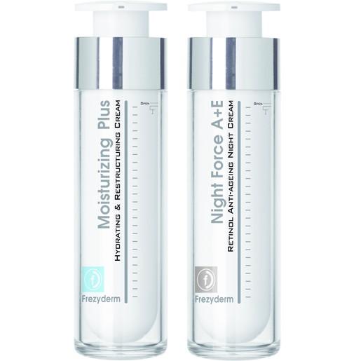 Frezyderm Πακέτο Προσφοράς Moisturizing Plus Cream 30+, 50ml & Night Force A+E Cream 50ml