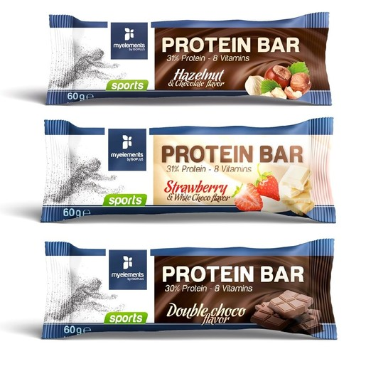MyElements Protein Bar Μπάρα Πρωτεΐνης Εμπλουτισμένη με 8 Βιταμίνες 60gr