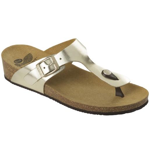 Scholl Shoes Gandia Χρυσό Γυναικεία Ανατομικά Παπούτσια που Χαρίζουν Σωστή Στάση & Φυσικό, Χωρίς Πόνο Βάδισμα 1 Ζευγάρι