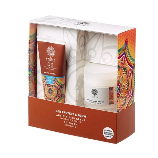 Garden of Panthenols Πακέτο Προσφοράς DD Daily Defense Matte Effect Face Cream Spf30, 50ml & Αντιρυτιδική Προσώπου Ματιών 50ml