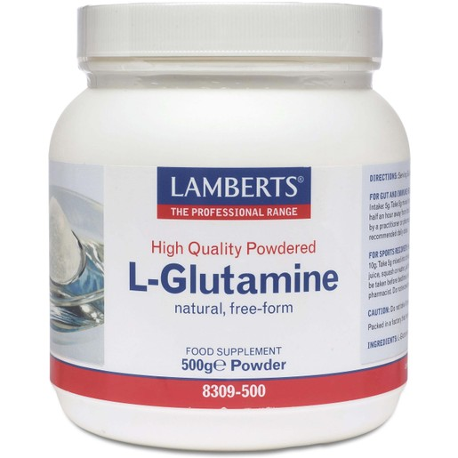 Lamberts L-Glutamine 500gr Powder