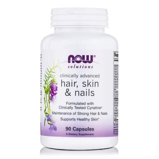 Now Foods Hair, Skin & Nails Συμπλήρωμα Διατροφής Εξελιγμένης Μορφής Διαλυμένης & Βιοδιαθέσιμης Κερατίνης 90 Caps