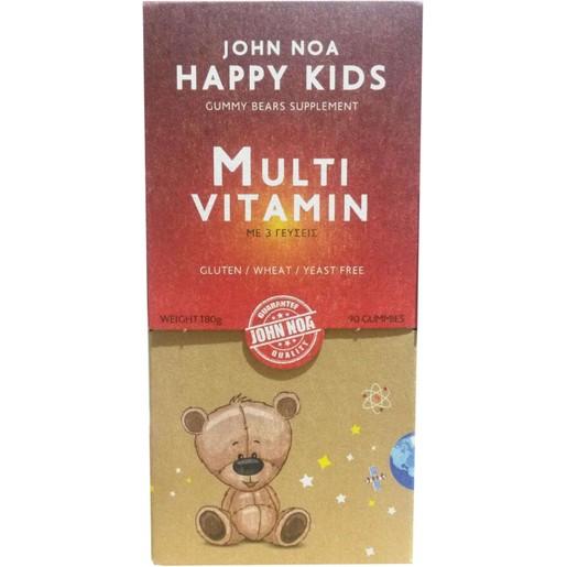 John Noa Happy Kids Multi Vitamin Συμπλήρωμα Διατροφής Πλούσιο σε Βιταμίνες για Παιδιά 90Gummies (Ζελεδάκια)