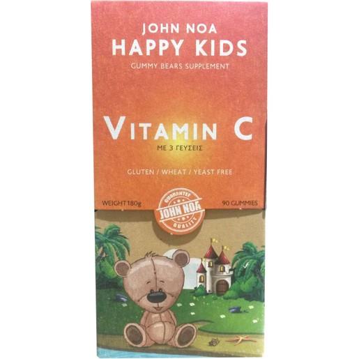 John Noa Happy Kids Vitamin C Συμπλήρωμα Διατροφής Βιταμίνης C για Παιδιά 90Gummies (Ζελεδάκια)