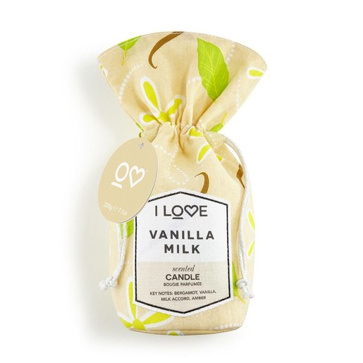 I love...Vanilla Milk Scented Candle Bougie Parfum 200gr