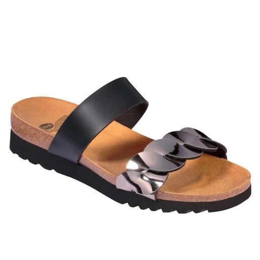 Scholl Shoes Jada Black/Pewter Γυναικεία Ανατομικά Παπούτσια Χαρίζουν Σωστή Στάση & Φυσικό Χωρίς Πόνο Βάδισμα 1 Ζευγάρι